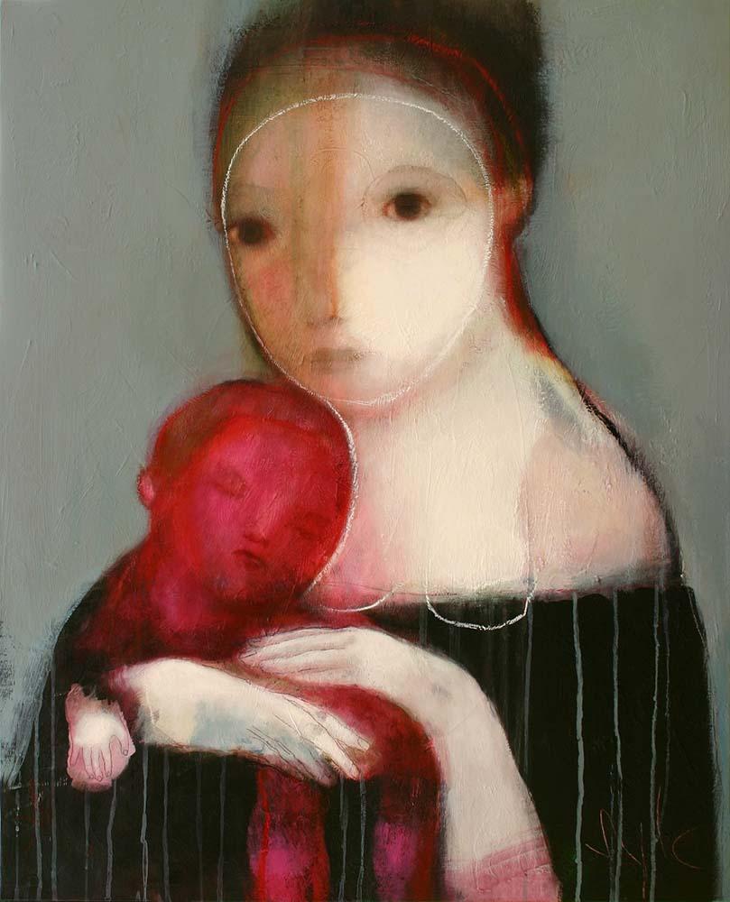 MOTHER (IV), 2011 - Acrylique & pastel à l'huile sur toile, 100x81cm
