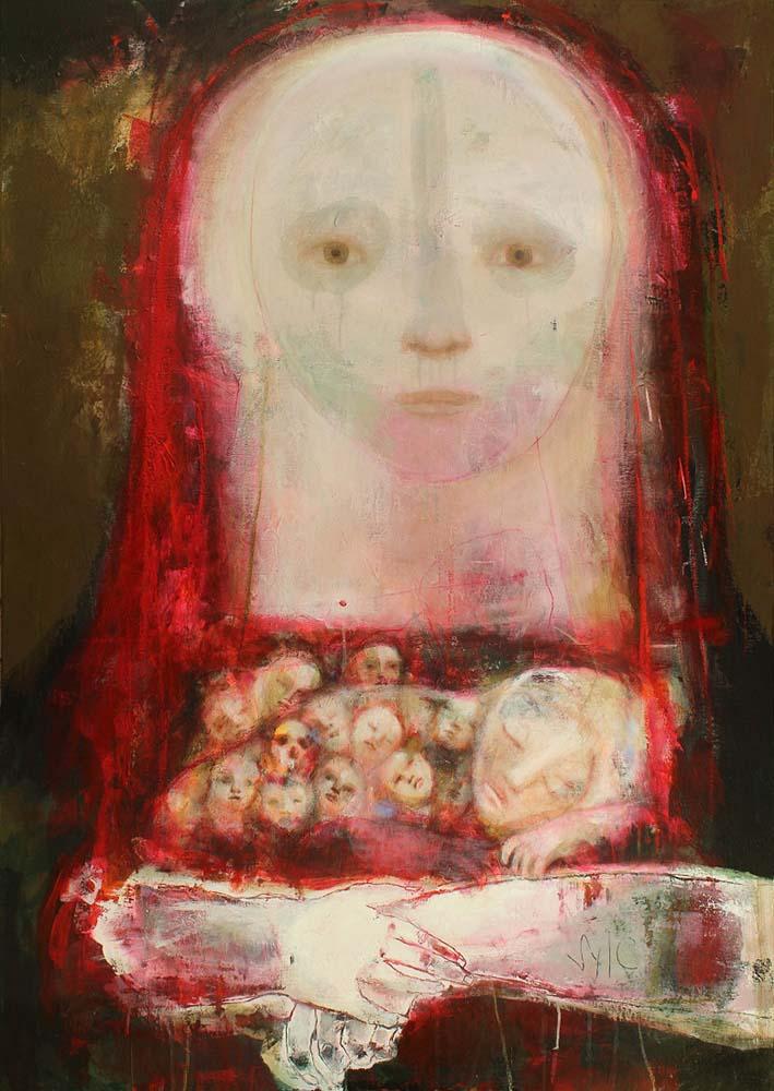 MOTHER (XVI), 2013 - Acrylique & pastel à l'huile sur toile, 162x114cm