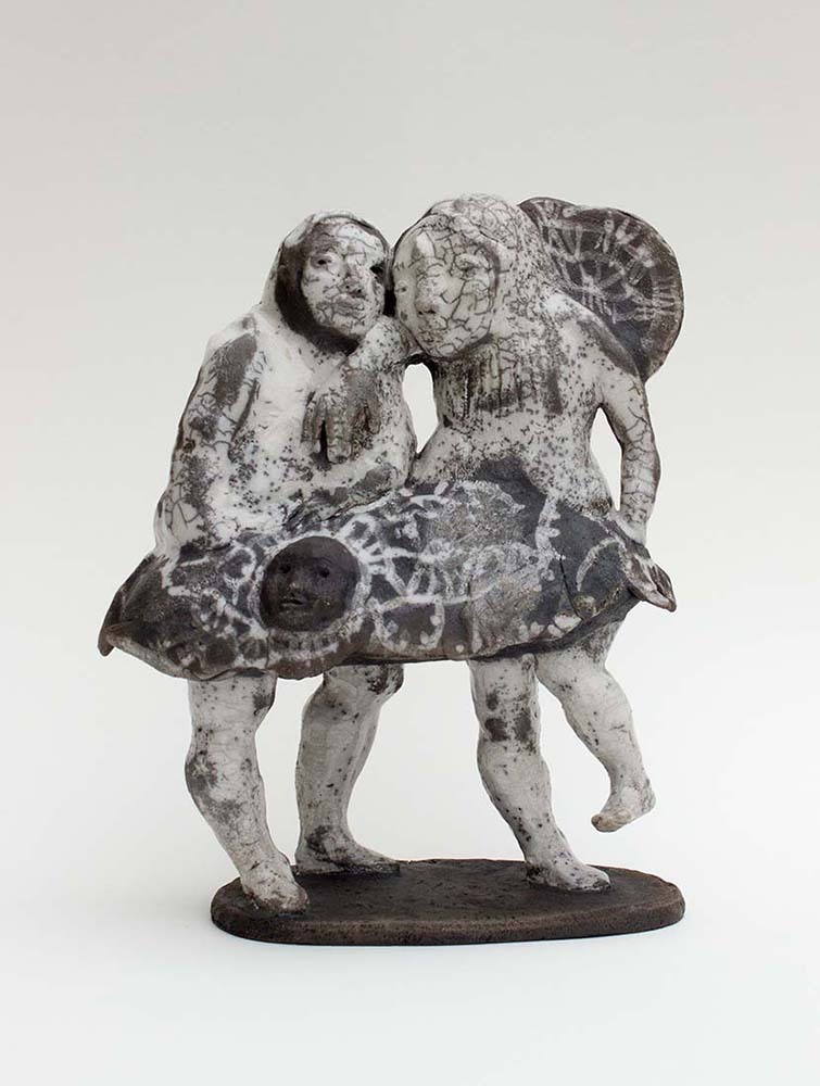 OSMOSE(S), Sculpture #2, 2017 - Céramique raku, 30x24x11cm