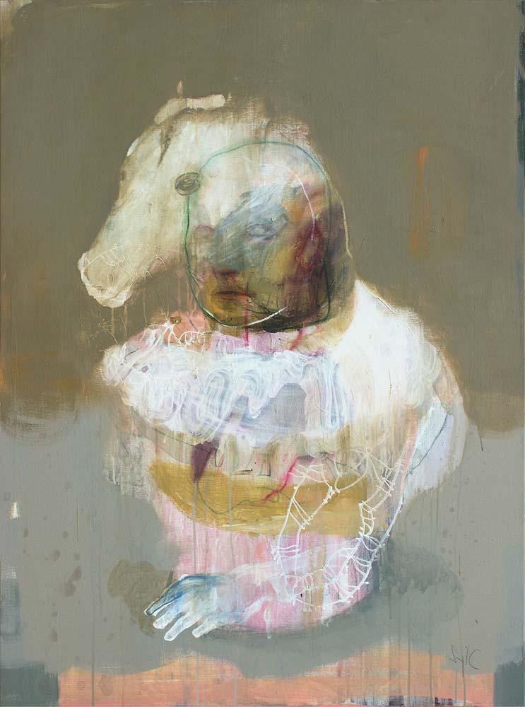 IDENTITE, 2018 - Acrylique & pastel à l'huile sur toile, 130x97cm