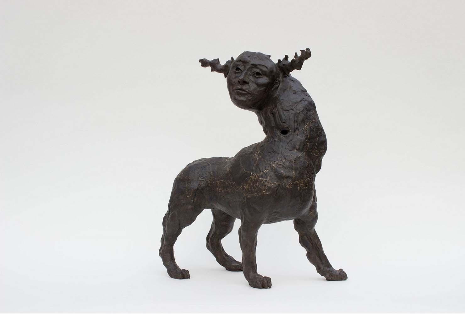 HUMANIMAL, Sculpture #1, 2018 - Céramique patinée, 49x39x19cm
