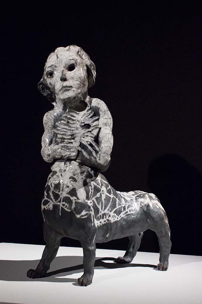 HUMANIMAL, Sculpture #2, 2018 - Céramique raku, 56x38x19cm