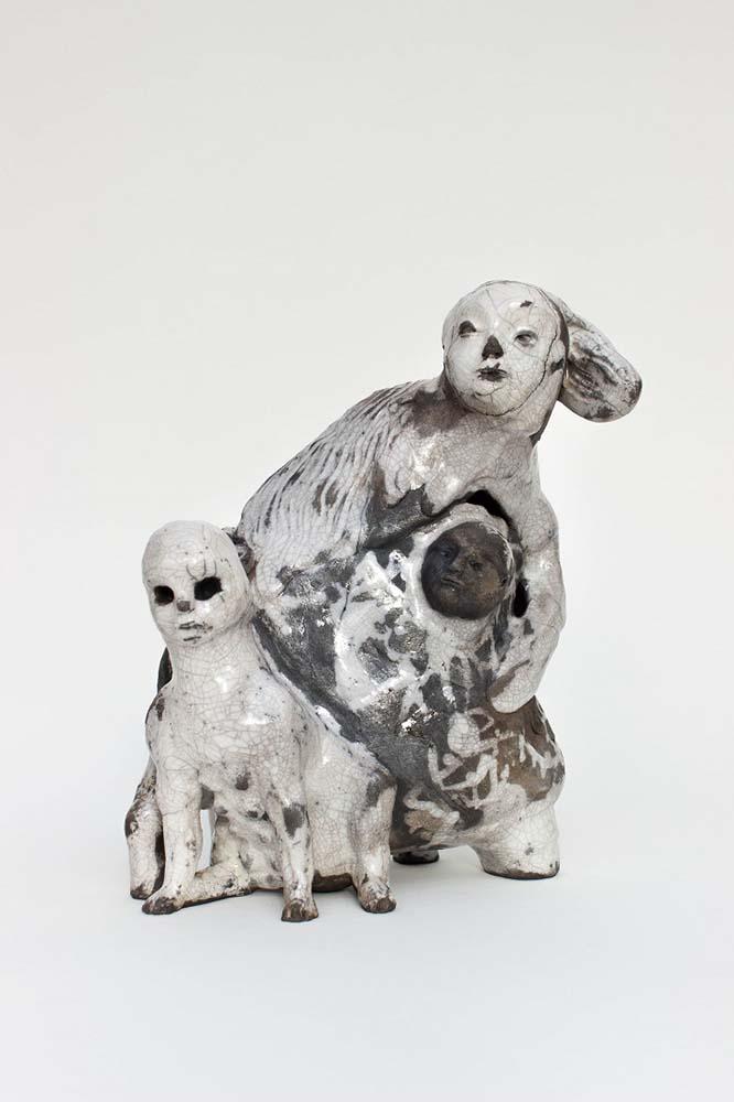 OSMOSE(S), Sculpture #8, 2018 - Céramique raku, 29x24x14cm