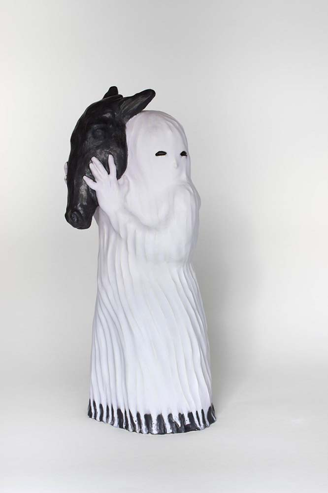 HORSE HUMAN'S SOUL, Sculpture #2, 2018 - Grès émaillé, 50x22x21cm