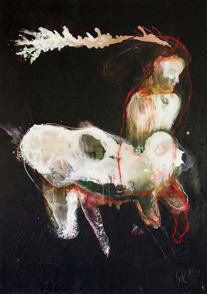 PLURALITE, 2019 - Acrylique & pastel à l'huile sur toile, 162x114cm