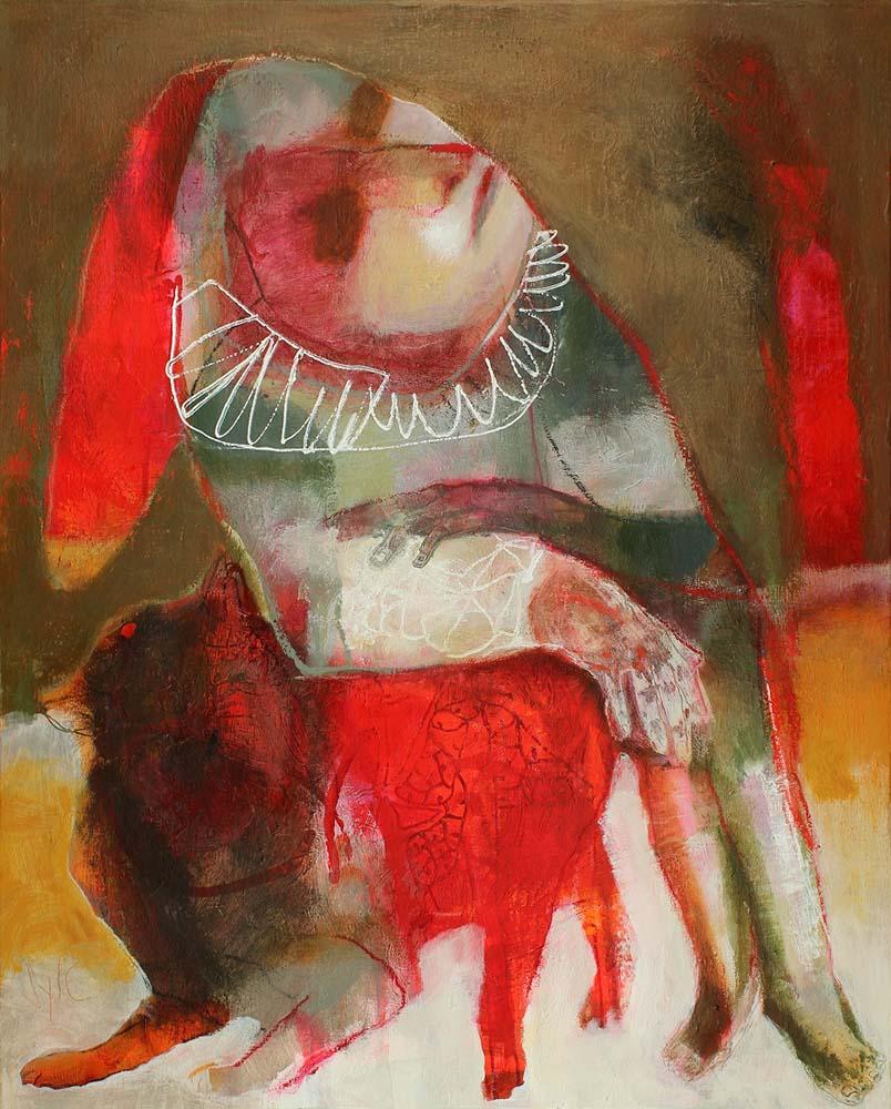 LE PARFUM DES SAISONS (I), 2013 - Acrylique & pastel à l'huile sur toile, 100x81cm