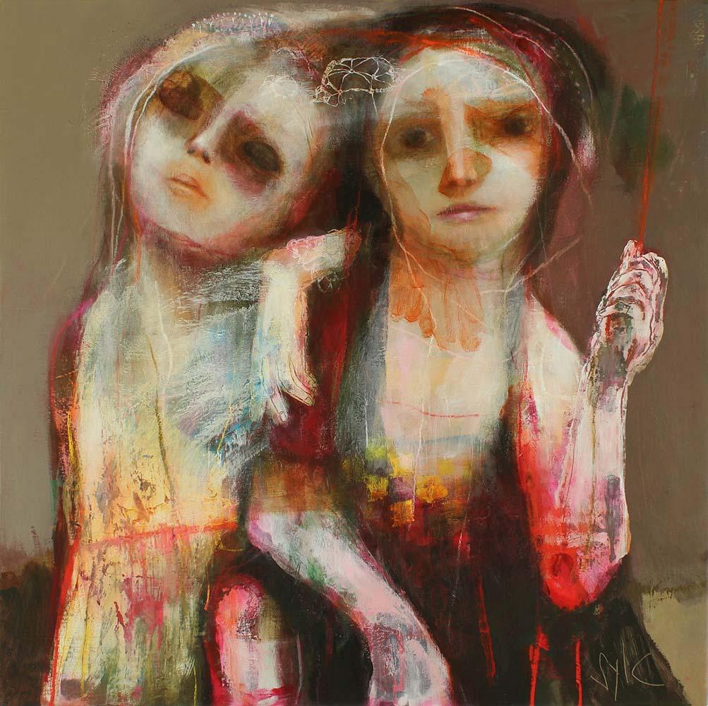 LE PARFUM DES SAISONS (VI), 2013 - Acrylique & pastel à l'huile sur toile, 100x100cm