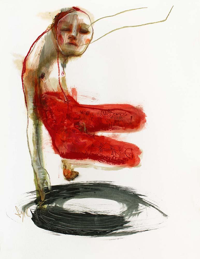 LE PARFUM DES SAISONS, Dessin #1, 2014 - Acrylique & pastel gras sur papier, 65x50cm