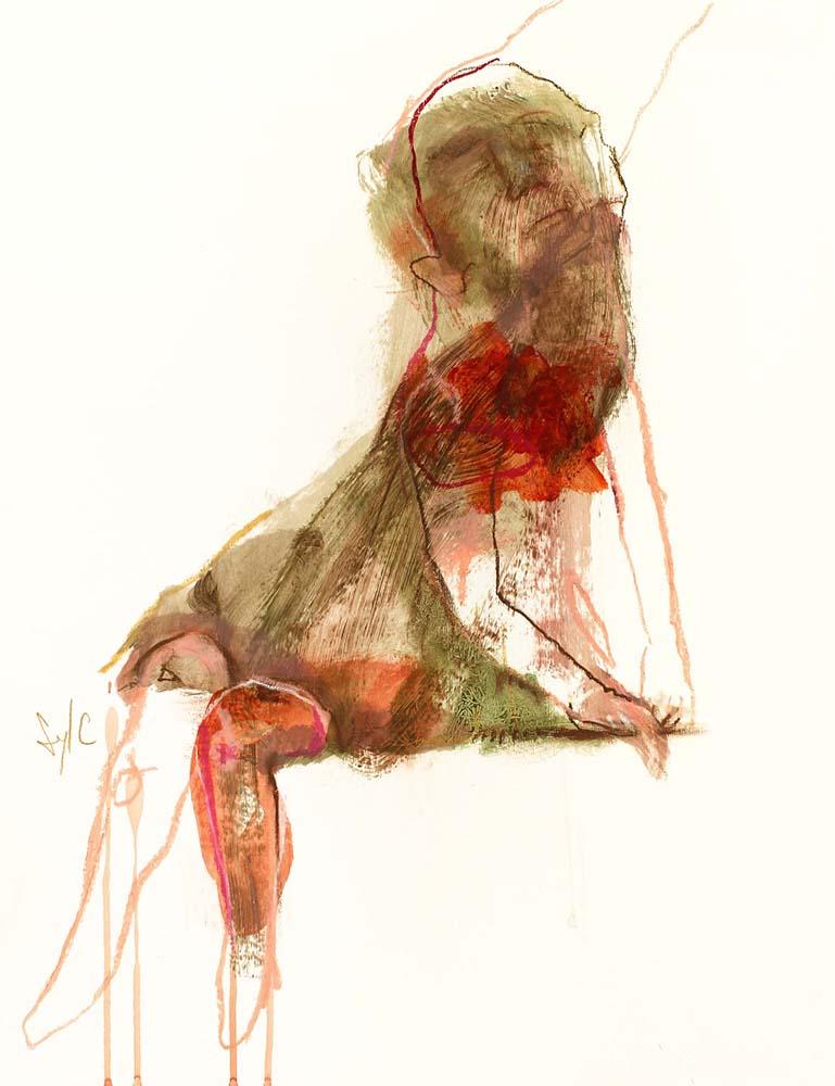 LE PARFUM DES SAISONS, Dessin #2, 2014 - Acrylique & pastel gras sur papier, 65x50cm