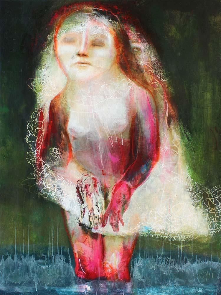 LE PARFUM DES SAISONS (XIX), 2015 - Acrylique & pastel à l'huile sur toile, 130x97cm