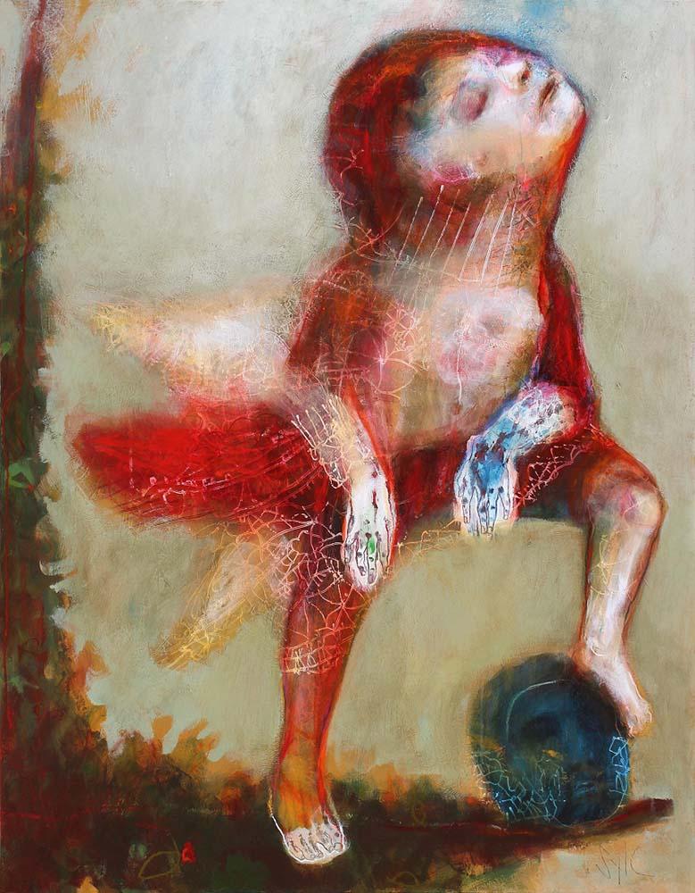 LE PARFUM DES SAISONS (XX), 2015 - Acrylique & pastel à l'huile sur carton, 169x137cm