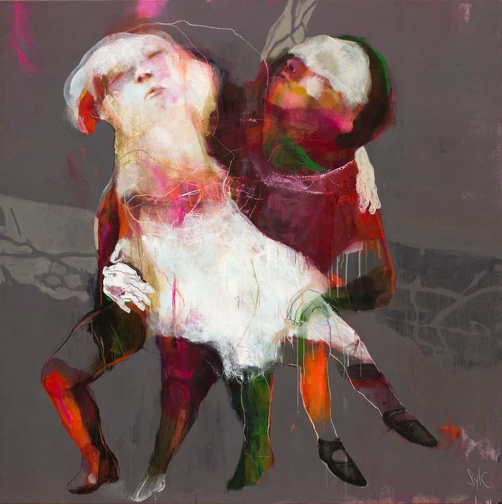 LE PARFUM DES SAISONS (XXI), 2016 - Acrylique & pastel à l'huile sur toile, 200x200cm