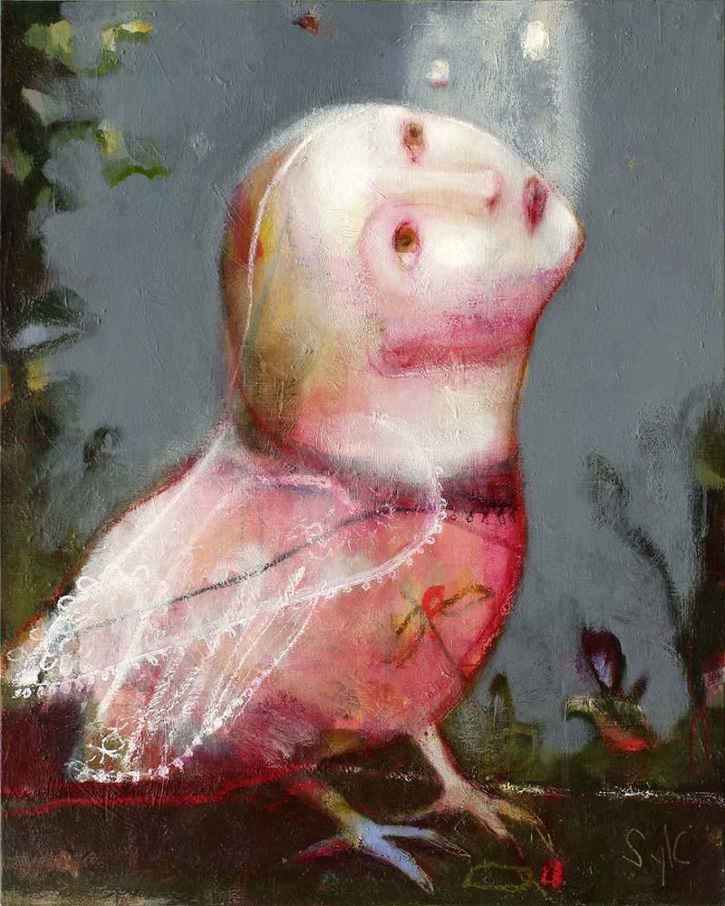 SONGE NOCTURNE, 2012 - Acrylique & pastel à l'huile sur toile, 81x65cm