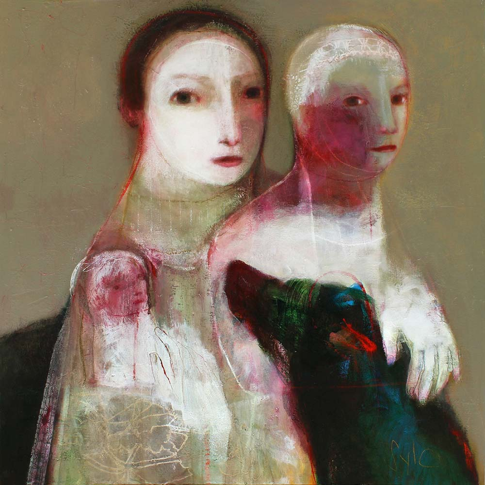 LE LIEN ETERNEL, 2012 - Acrylique & pastel à l'huile sur toile, 130x100cm