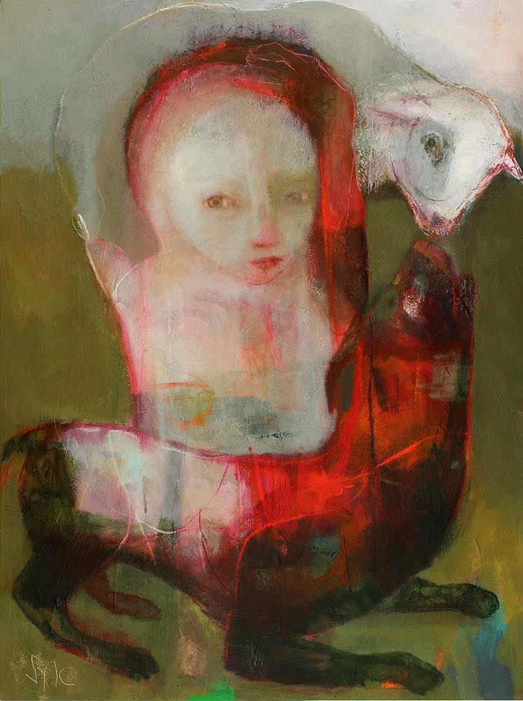LES REFLETS DE L'AME (I), 2013 - Acrylique & pastel à l'huile sur toile, 130x97cm
