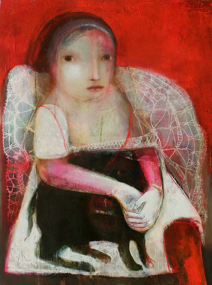 IMPERTURBABLE, 2012 - Acrylique & pastel à l'huile sur toile, 130x97cm
