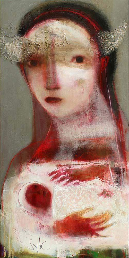 MOTHER (I), 2012 - Acrylique & pastel à l'huile sur toile, 160x80cm