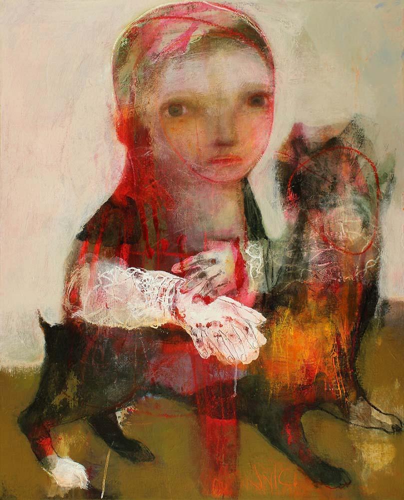 LES LEURRES DU TEMPS, 2013 - Acrylique & pastel à l'huile sur toile, 100x81cm