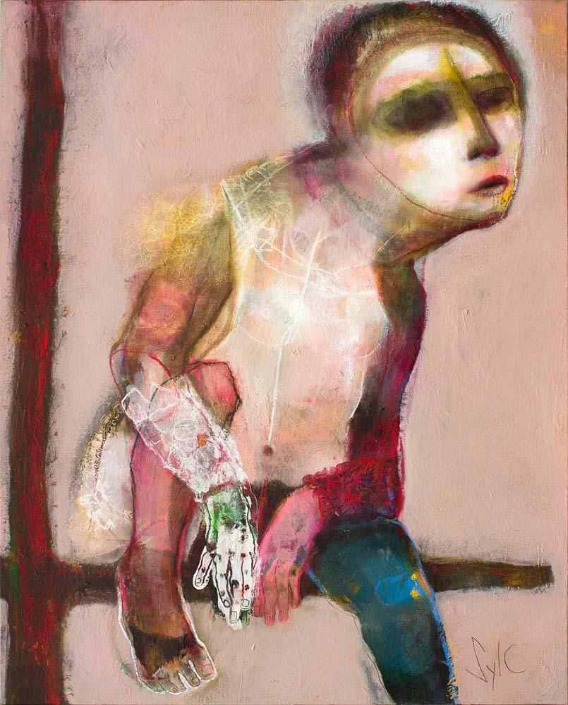 LE PARFUM DES SAISONS (V), 2013 - Acrylique & pastel à l'huile sur toile, 100x81cm