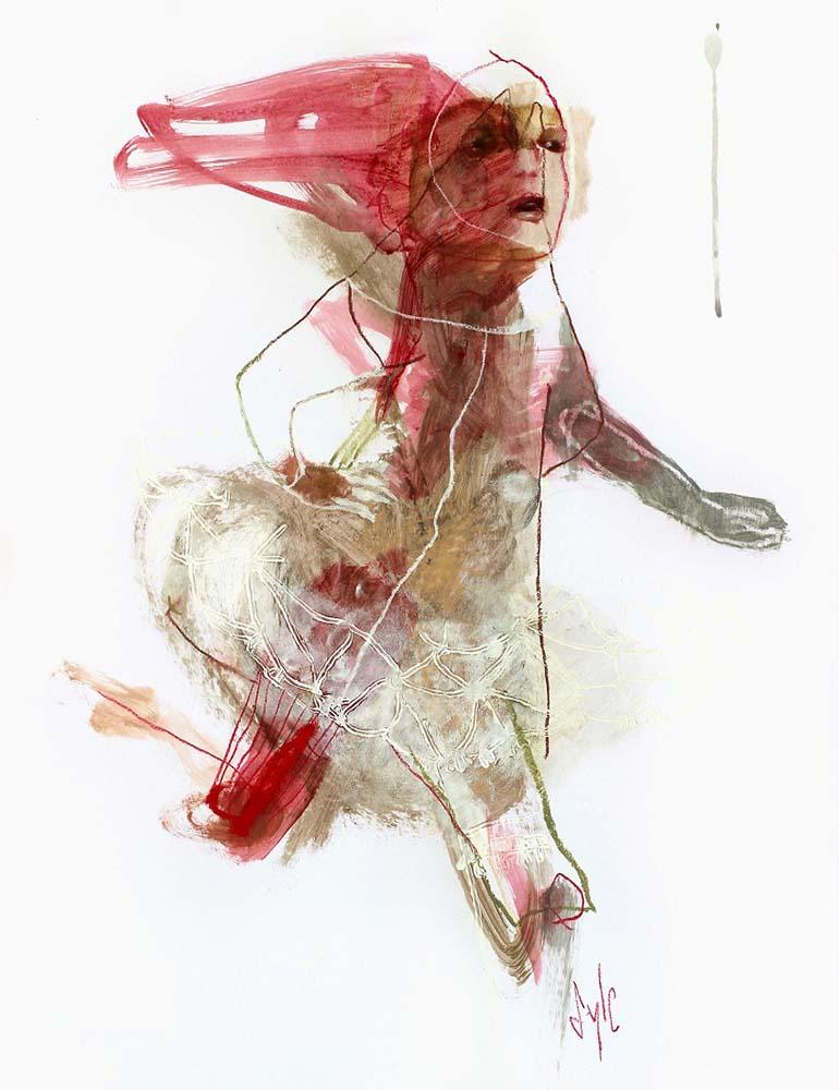 UNTITLED, 2013 - Acrylique & pastel gras sur papier, 65x50cm