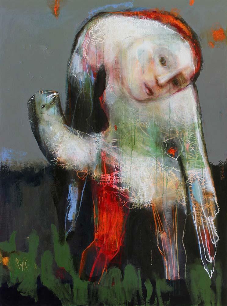 PRESENCE (III), 2014 - Acrylique & pastel à l'huile sur toile, 130x97cm
