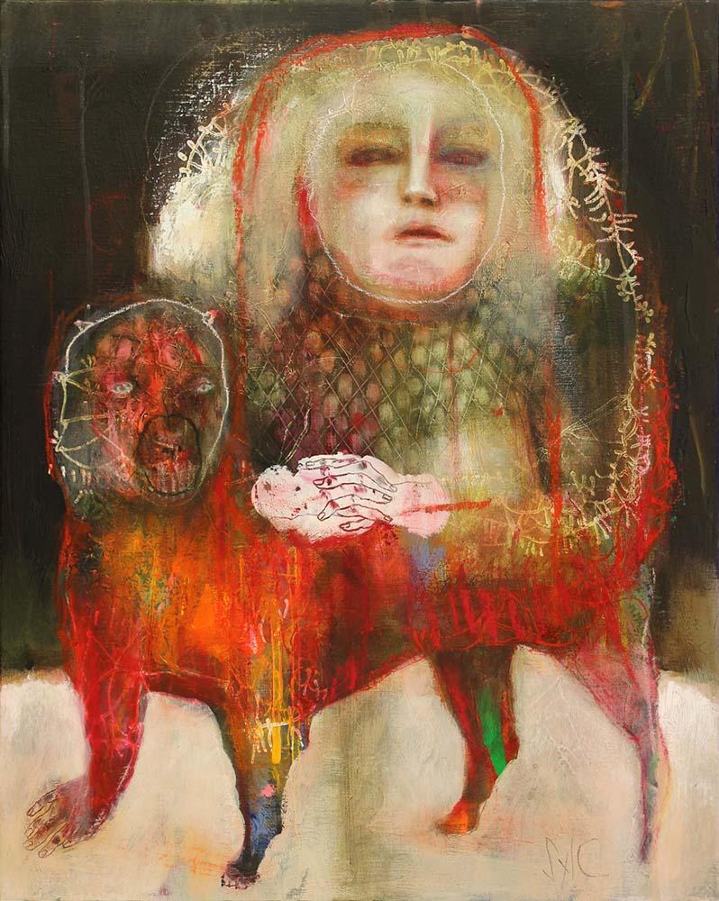 MAD DOG (XXII), 2015 - Acrylique & pastel à l'huile sur toile, 81x65cm