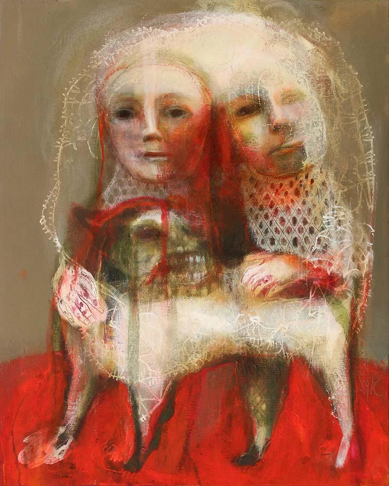 MAD DOG (XXIII), 2015 - Acrylique & pastel à l'huile sur toile, 81x65cm