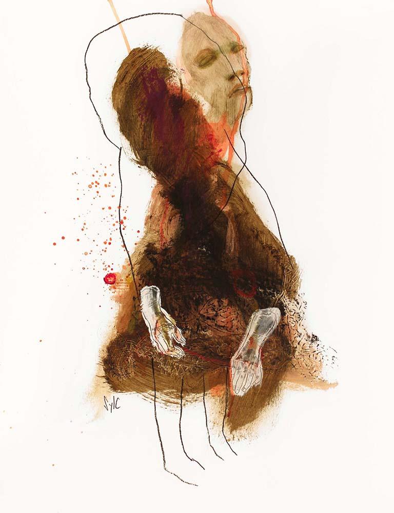 LE PARFUM DES SAISONS, Dessin #3, 2015 - Fusain, acrylique & pastel gras sur papier, 65x50cm