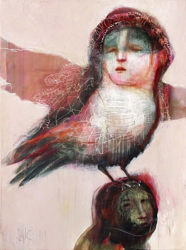 HUMAN BIRDS (XVI), 2016 - Acrylique & pastel à l'huile sur toile, 130x97cm
