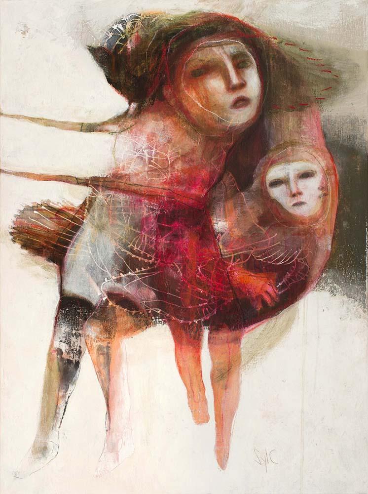 HUMAN BIRDS (XVII), 2016 - Acrylique & pastel à l'huile sur toile, 130x97cm
