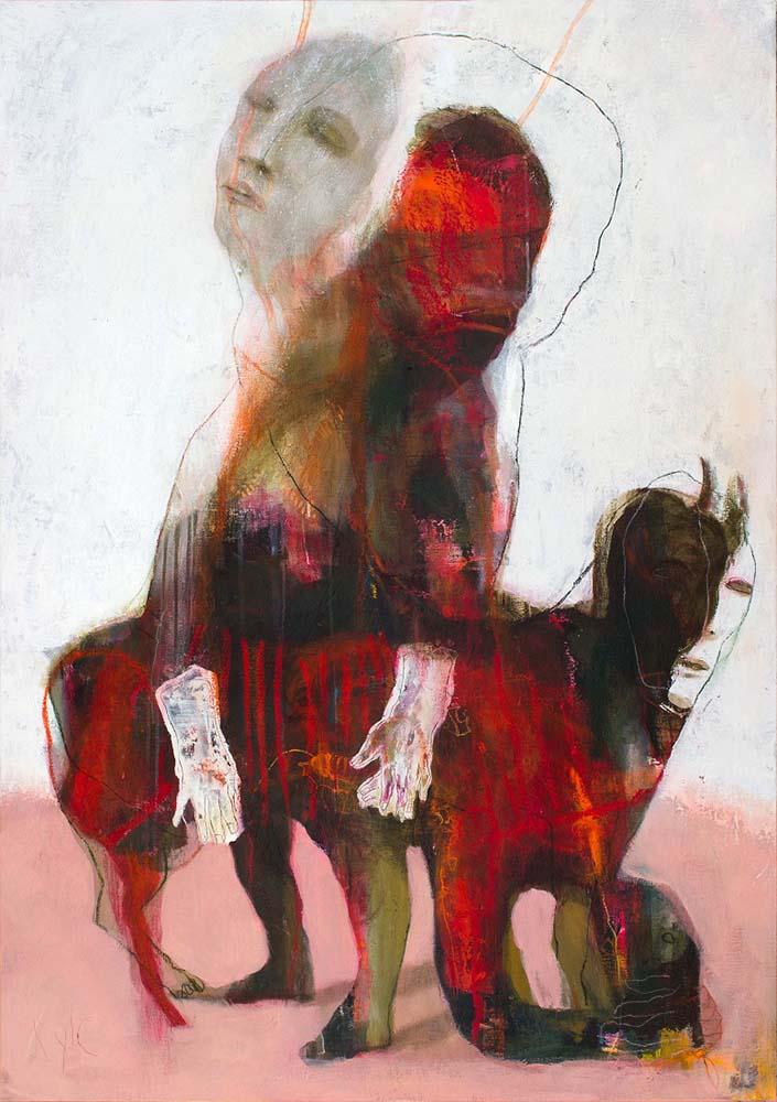 SHAMAN (III), 2016 - Acrylique & pastel à l'huile sur toile, 162x114cm