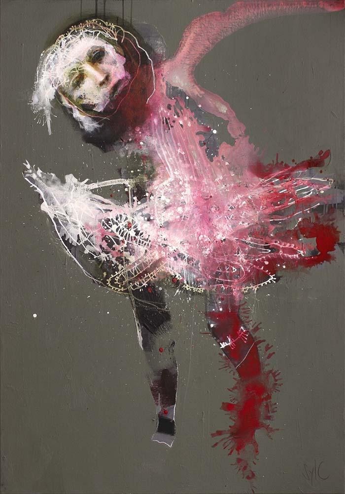 HUMAN BIRDS (XXIII), 2016 - Acrylique & pastel à l'huile sur toile, 162x114cm