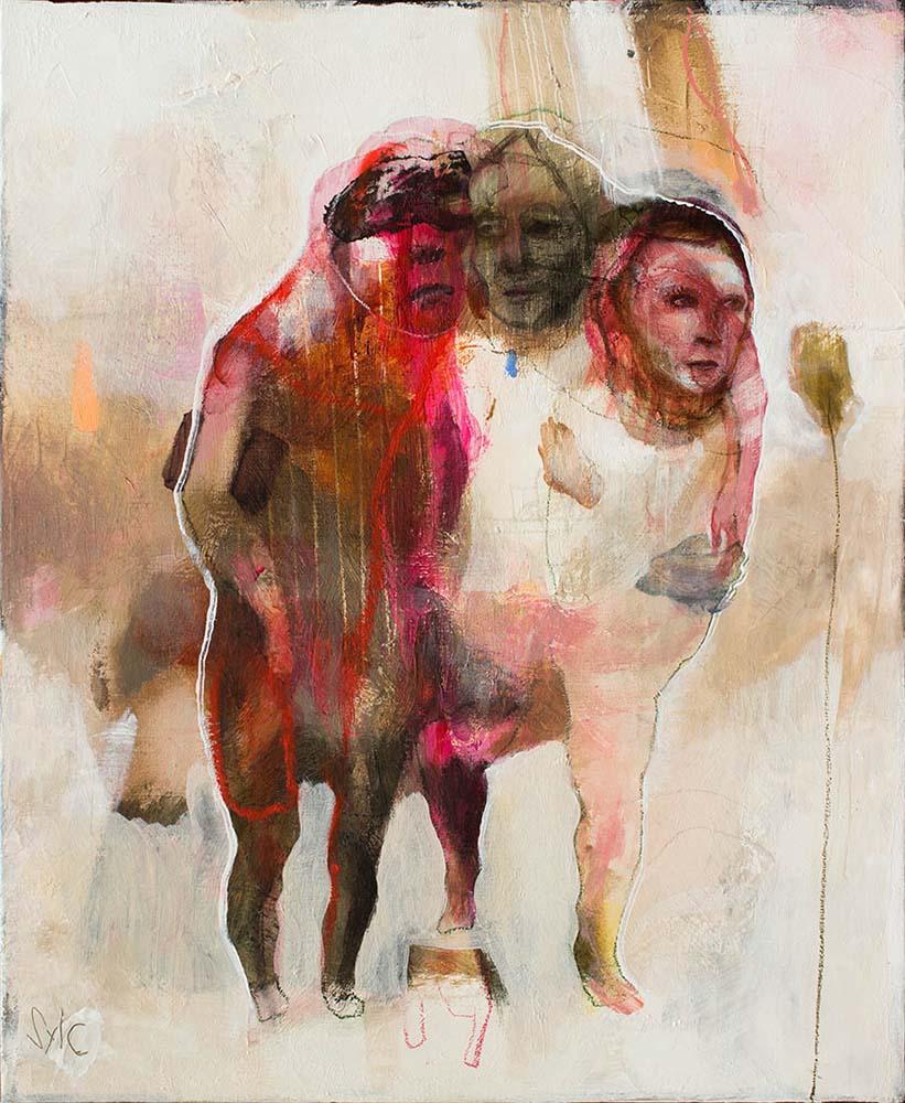 OSMOSE(S) VII, 2016 - Acrylique & pastel à l'huile sur toile, 61x50cm