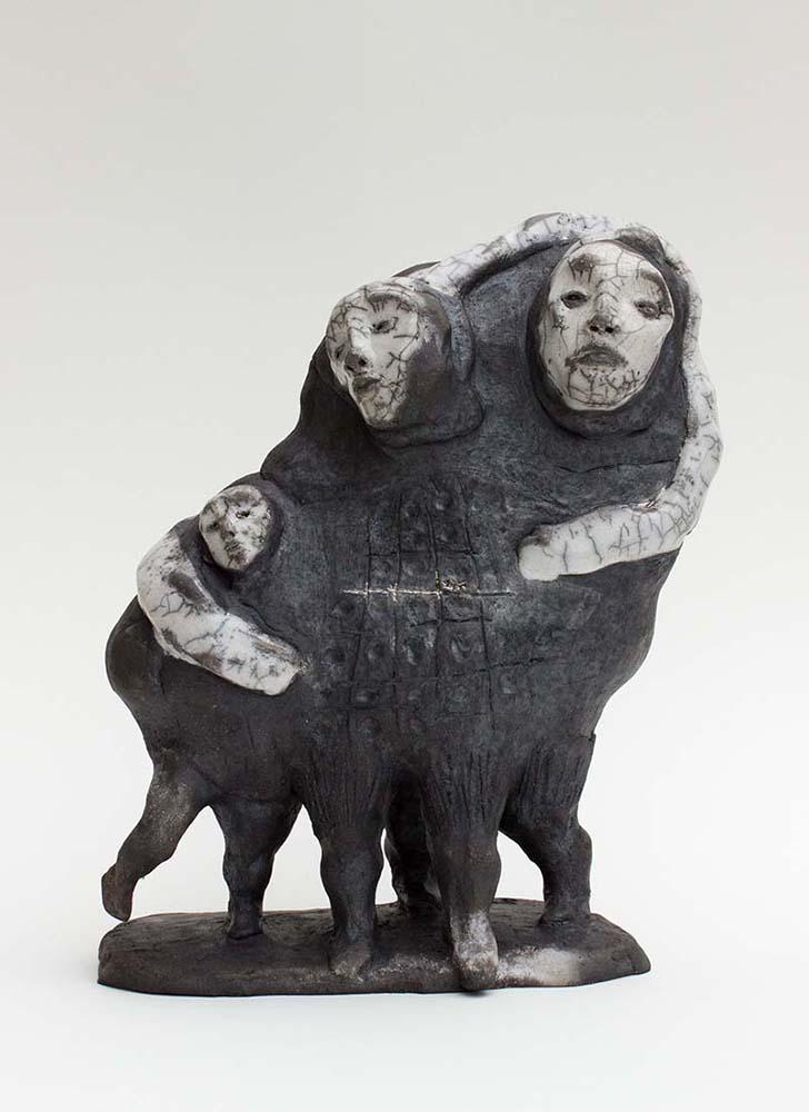 OSMOSE(S), Sculpture #3, 2017 - Céramique raku, 30x24x12cm