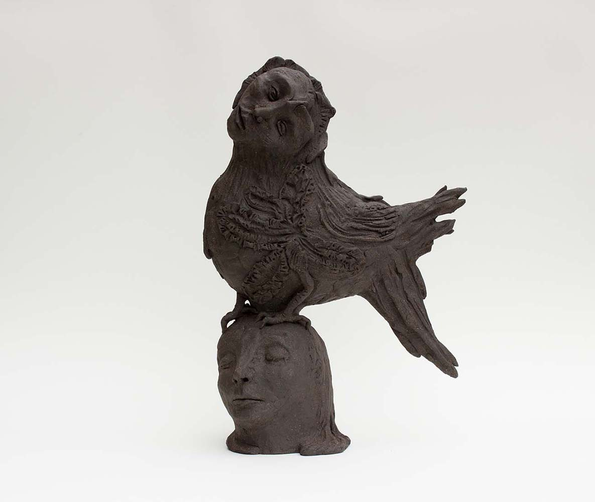 HUMAN BIRDS, Sculpture #3, 2017 - Céramique, 47x32x16cm