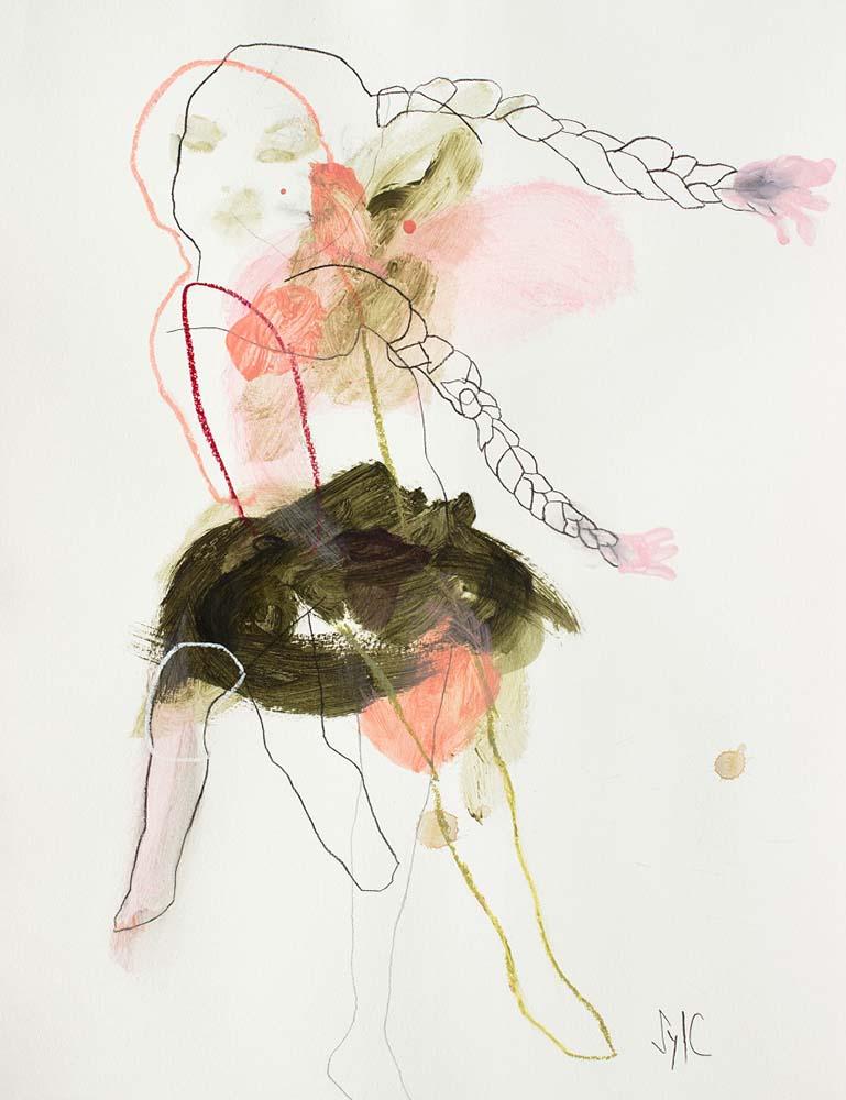 UNTITLED, 2018 - Mine graphite, fusain, acrylique & pastel gras sur papier, 65x50cm