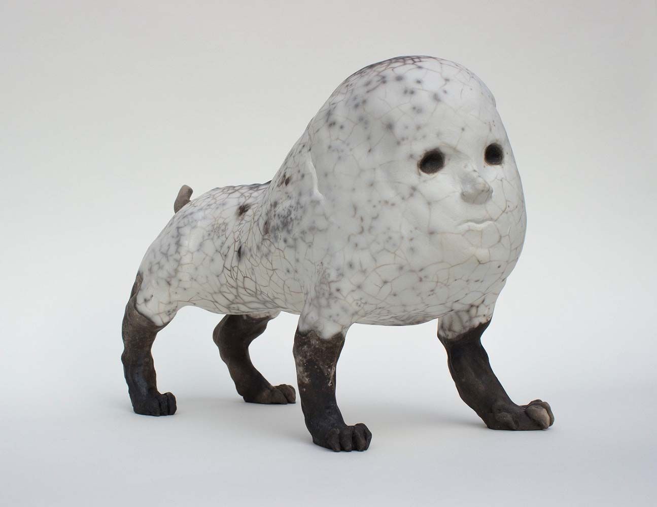 HUMANIMAL, Sculpture #4, 2018 - Céramique raku, 29x37x18cm