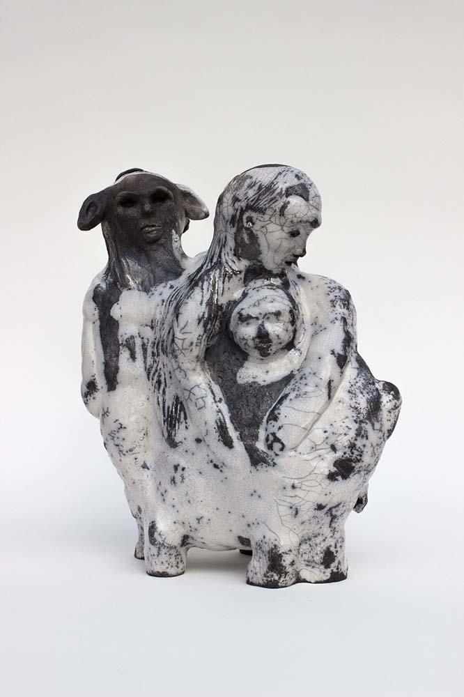 OSMOSE(S), Sculpture #6, 2018 - Céramique raku, 30x25x16cm
