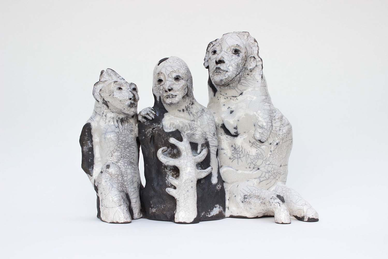 OSMOSE(S), Sculpture #9, 2018 - Céramique raku, 29x35x15cm