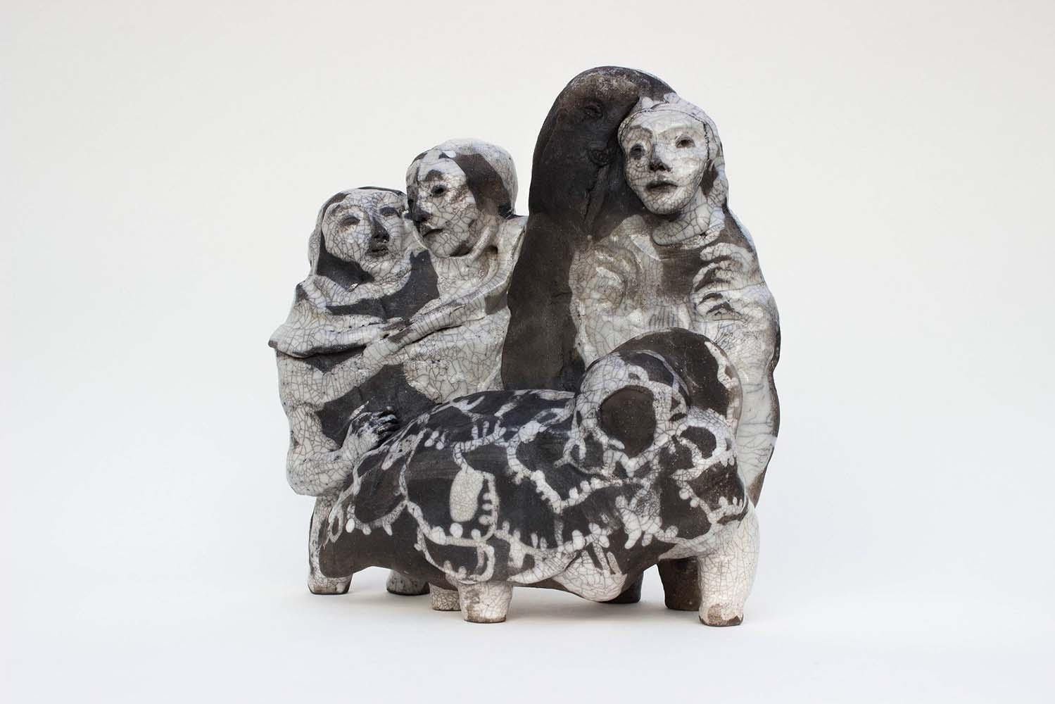 OSMOSE(S), Sculpture #10, 2018 - Céramique raku, 30x29x14cm