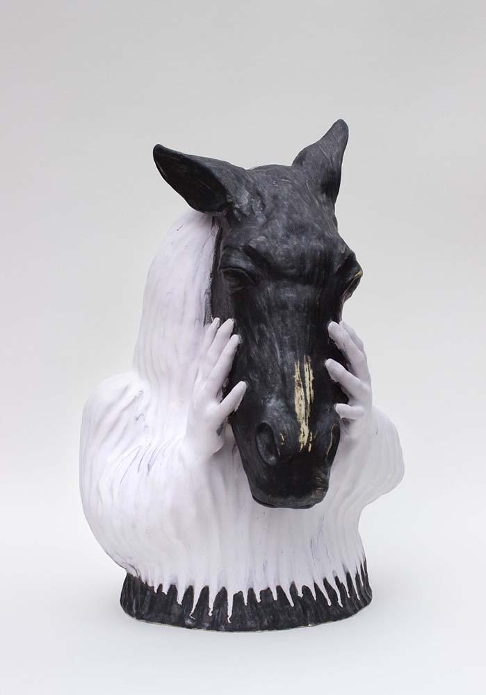 HORSE HUMAN'S SOUL, Sculpture #3, 2019 - Grès émaillé, 57x40x37cm