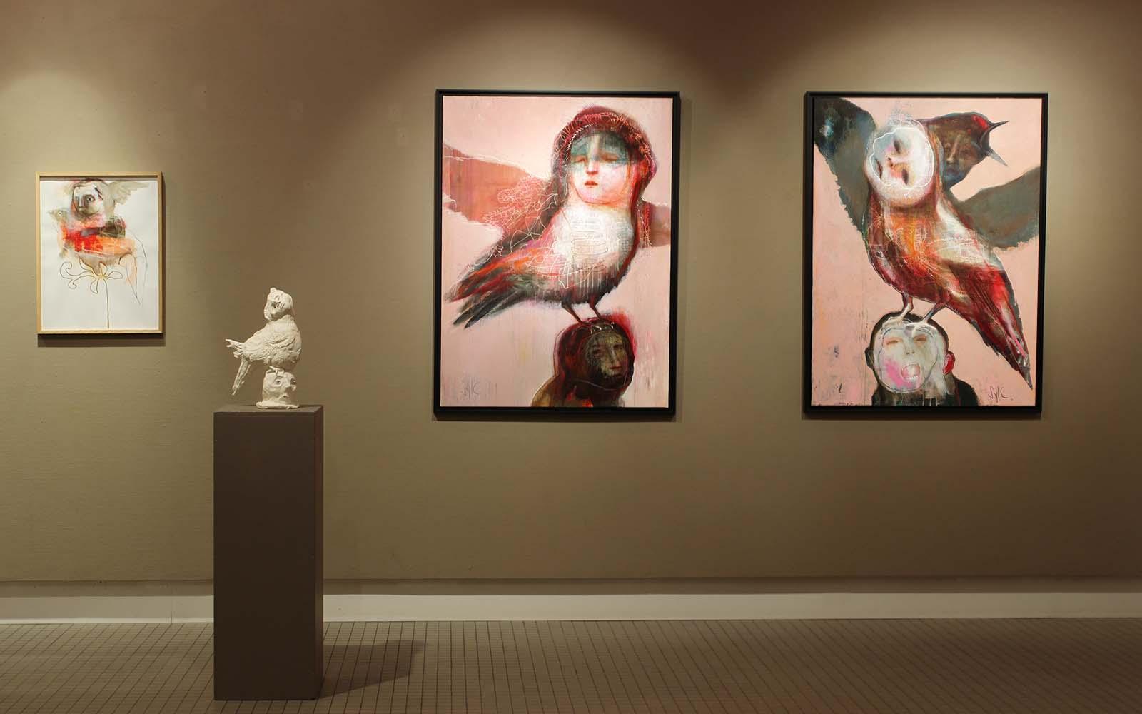 HUMAN BIRDS - Vue d'exposition