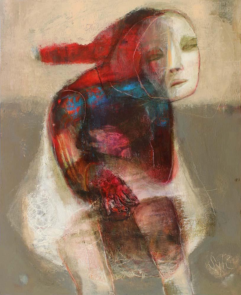LE PARFUM DES SAISONS (XIII), 2013 - Acrylique & pastel à l'huile sur toile, 100x81cm