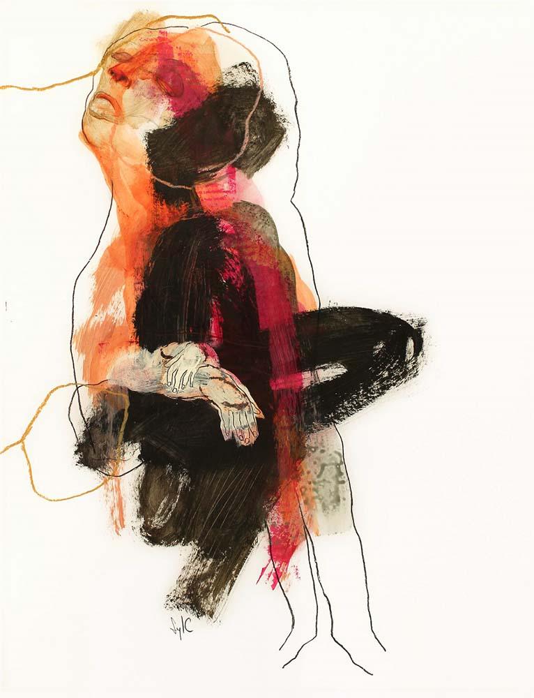 CC46 - Dessin, Le parfum des saisons #4 - 65x50cm