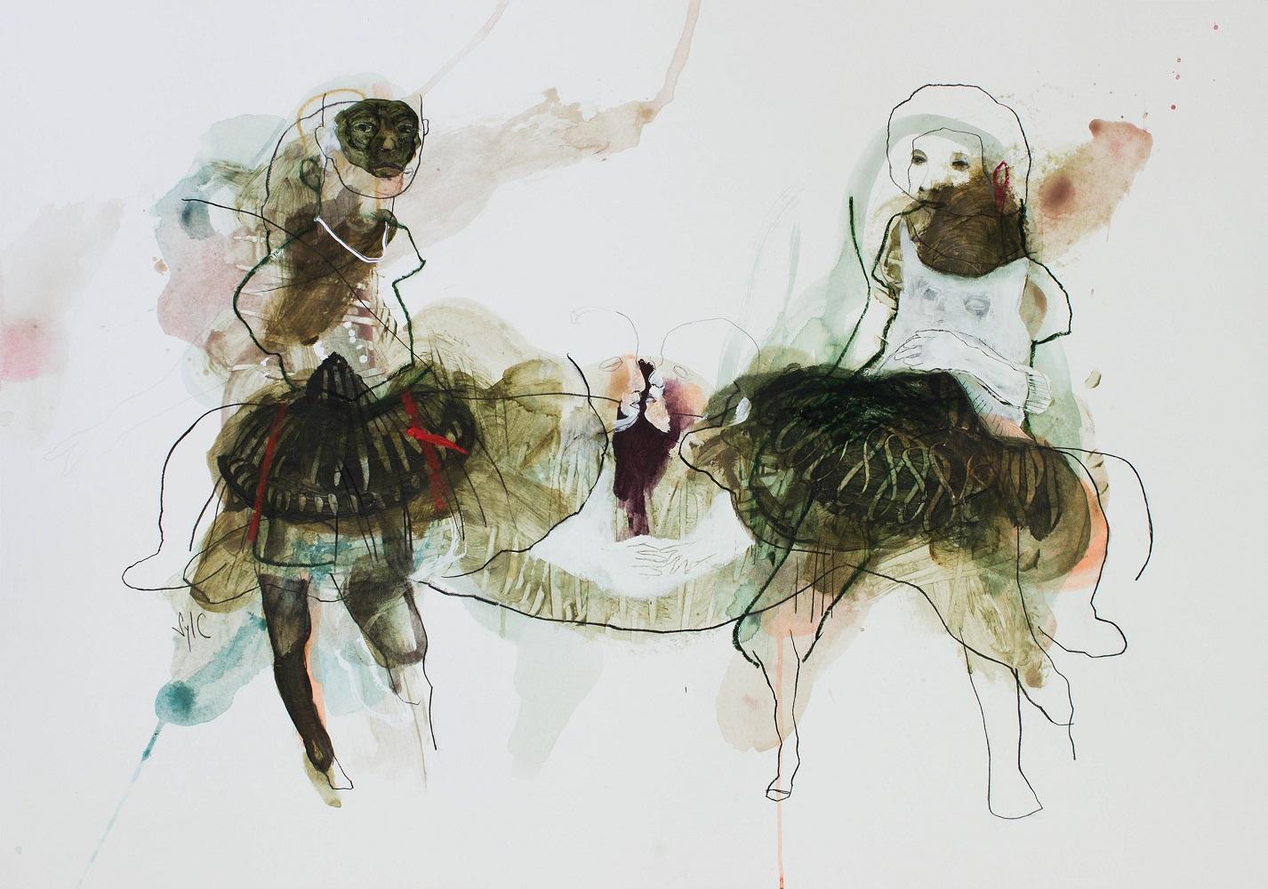 RÉVÉLATION, Dessin, 2019 - Mine graphite, fusain, acrylique & pastel gras sur papier, 70x100cm