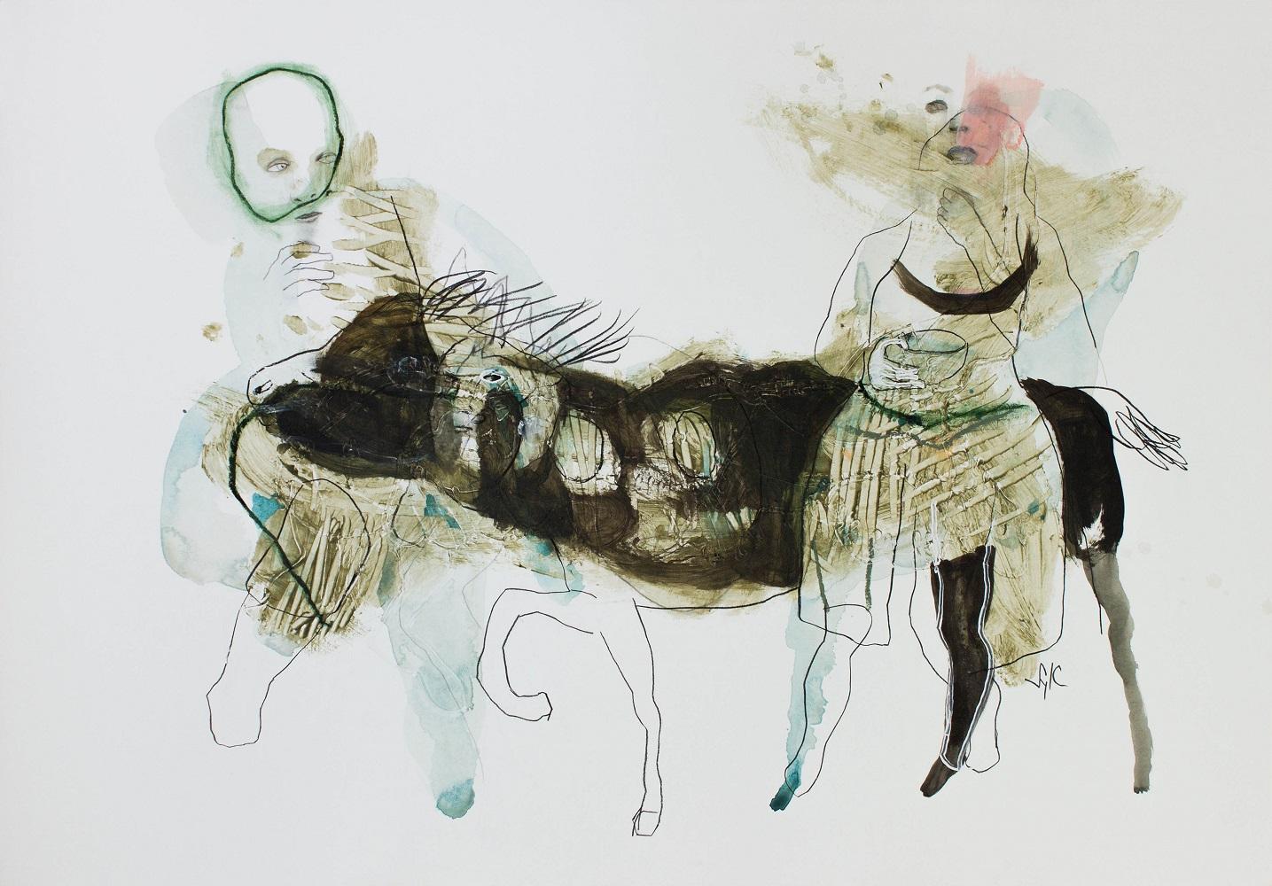 LÉGENDE, Dessin, 2019 - Mine graphite, fusain, acrylique & pastel gras sur papier, 70x100cm