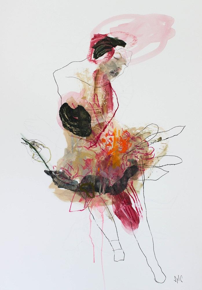 ÉLÉVATION, Dessin, 2019 - Mine graphite, fusain, acrylique & pastel gras sur papier, 100x70cm