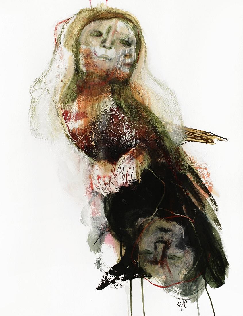 HUMAN BIRD, Dessin #17 - 65x50cm - 1 200 €